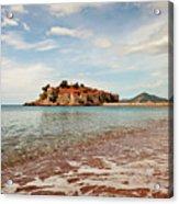 Sveti Stefan Beach Acrylic Print
