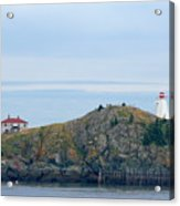 Swallowtail Lighthouse And Keeper Acrylic Print