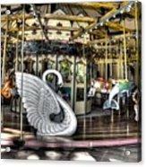 Swan Seat At The Carousel  Acrylic Print