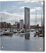 Swansea Marina Acrylic Print