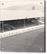 Swansea - Vetch Field - South Stand 1 - Bw - 1960s Acrylic Print