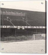 Swansea - Vetch Field - West Terrace 1 - Bw - 1960s Acrylic Print