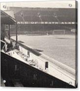 Swansea - Vetch Field - West Terrace 2 - Bw - 1960s Acrylic Print