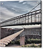 Swayback Suspension Bridge Acrylic Print