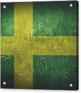 Sweden Distressed Flag Dehner Acrylic Print