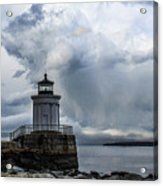 Sweeping Clouds Over Bug Light Acrylic Print