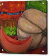Sweet Juicy Cantalope Acrylic Print