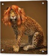 Sweet Lady Leopard Acrylic Print