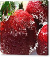 Sweet  Like A Chocolate Strawberry Acrylic Print by Colleen Kammerer