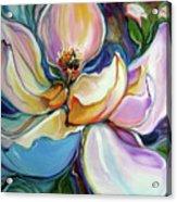 Sweet Magnoli Floral Abstract Acrylic Print