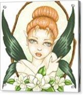 Sweet Magnolia Fae Acrylic Print by Elaina  Wagner