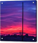 Sweet Nebraska Sunset 004 Acrylic Print