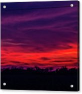 Sweet Nebraska Sunset 005 Acrylic Print