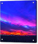 Sweet Nebraska Sunset 001 Acrylic Print