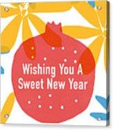 Sweet New Year Card- Art By Linda Woods Acrylic Print