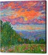 Sweet Pea Morning On The Blue Ridge Acrylic Print