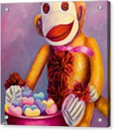 Sweetheart Made Of Sockies Acrylic Print