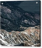 Sweetwater Mountains On California Nevada Border Aerial Photo Acrylic Print