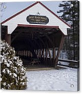 Swift River Bridge Conway New Hampshire Acrylic Print