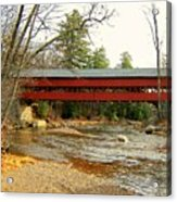 Swift River Covered Bridge Acrylic Print