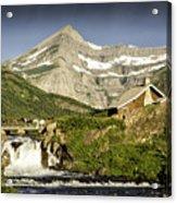 Swiftcurrent Falls Glacier Park 1 Acrylic Print