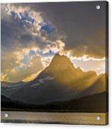 Swiftcurrent Lake Sundown Glacier N P Acrylic Print