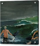 Swim At Your Own Risk Acrylic Print