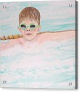 Swim Meet Acrylic Print by Janna Columbus
