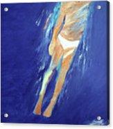 Swimmer Ascending Acrylic Print