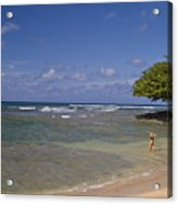 Swimmer In Paradise Acrylic Print