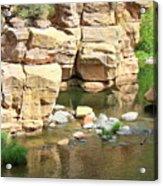 Swimming Hole At Slide Rock Acrylic Print