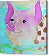 Swimming Piggy Acrylic Print