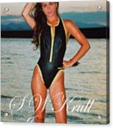 Swimsuit Girl Ad Acrylic Print