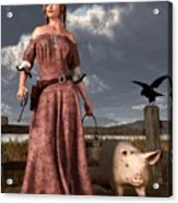 Swineherdess Acrylic Print