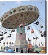Swing Carousel At County Fair Acrylic Print