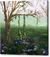 Swingin' With The Flowers Acrylic Print