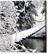 Swinging Bridge Over Gauley River Acrylic Print