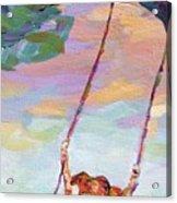 Swinging With Sunset Energy Acrylic Print
