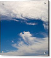 Swirl Of Clouds In A Blue Sky Acrylic Print
