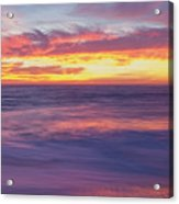 Swirling Ocean And Sky Acrylic Print