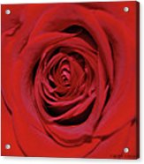 Swirling Red Silk Acrylic Print