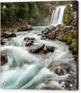 Swirling Waters - Tawhai Falls Acrylic Print