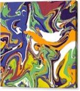 Swirls Drip Art Acrylic Print