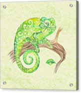 Swirly Chameleon Acrylic Print