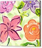 Swirly Flowers Acrylic Print