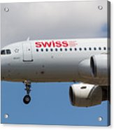 Swiss Airlines Airbus A320 Acrylic Print