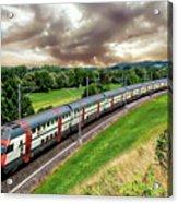 Swiss Passenger Train Acrylic Print