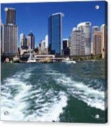Sydney Circular Quay Acrylic Print by Melanie Viola