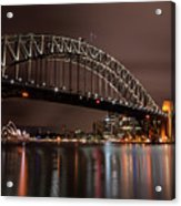 Sydney Harbor At Night Acrylic Print