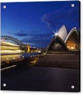 Sydney Opera House At Night Acrylic Print